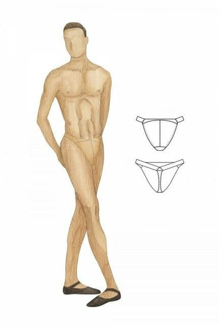 Bloch Mens Dance Belt Underwear Thong Back Narrow Waist Silicone Padding Nude